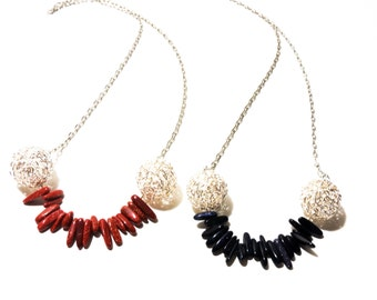 Layering Necklace, Boho Necklace, Sandstone necklace