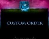Custom Listing For Etsy Member JAE MANNING