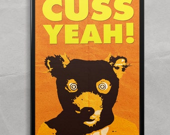 Fantastic Mr. Fox Poster or Framed Print, Cuss Yeah! Wes Anderson movie poster
