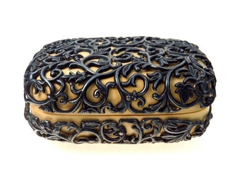 Antique Ornate Travel Soap Box