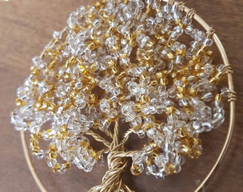 Gold Tone Tree of Life