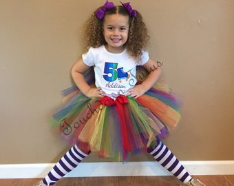 Skating birthday Tutu birthday outfit - pick your number