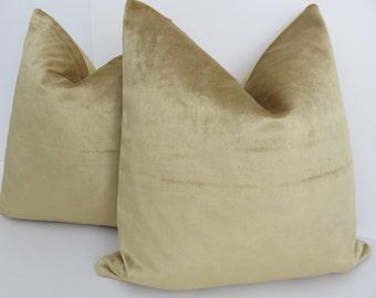 Velvet Pillow Cover -Cotton Velvet Pillow- Pillow Covers -Gold velvet Pillow Cover -Gold Pillow Cover - Gold Velvet Pillow