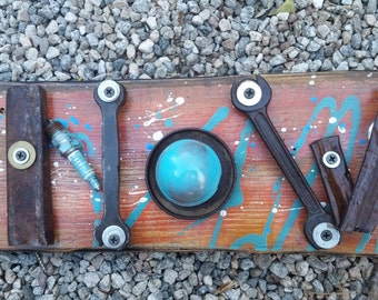 Word Art Sign made with recycled trash