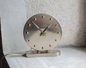 Mid Century Clock // NUFA Electronic Desk Clock