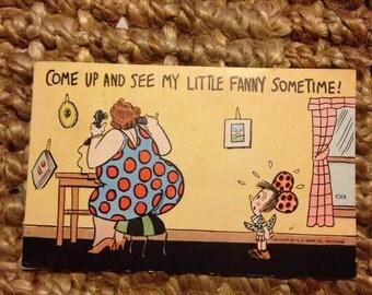 Little Fanny EC Knopp Linen Postcard