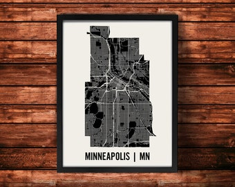 Minneapolis Map Artwork | Map of Minneapolis | Minneapolis Minnesota Map | Minneapolis City Map | Minneapolis Poster | Minneapolis Wall Art