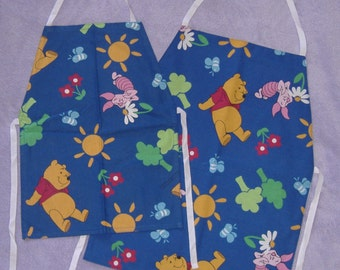 Childrens Blue Winnie the Pooh Aprons (Age 4 - 6 or 6 - 8 years)