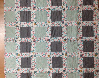 Mint and Grey Baby Quilt