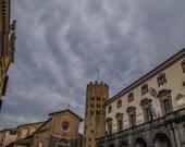 "Italy Photography, ""Cloudy Skies in Orvieto"", Travel Photography, Tuscany, Customizable Photo Sizes"