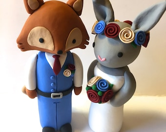 Animal Wedding Cake Topper Mix and Match/Choose Your Colors