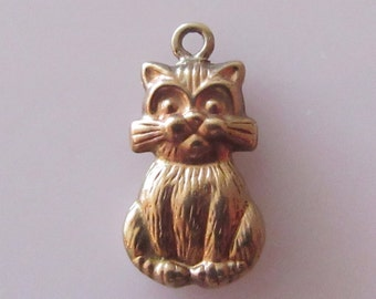 9ct Gold Cat Charm or Pendant
