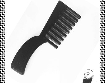 The Mini Comb, 3D Printed Round Small Comb, 3D Printed  Comb,  Beard Comb, Hair Comb, Black Comb, Father's Day Gift