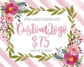 Custom Logo Design and Watermark for Photographers and Small Crafty Boutiques One of a Kind Custom Logo Package Shabby Chic Vintage Business