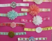 Beach baby headbands in NB size-mermaid, seahorse, flamingo, starfish, seashell