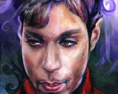 Canvas Print 8 1/2 by 11 inches / Prince Paisley Park Red Jacket Portrait