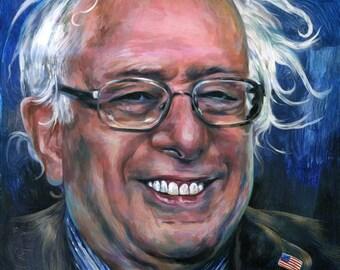 Canvas Print / Smiling Bernie Sanders Pancake Portrait