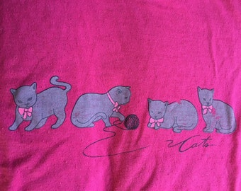 Cats vintage shirt