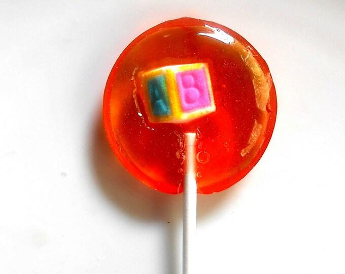 Baby Shower Lollipops, Favors, Sugar Charms, Cherry, Orange, Lemon, red, orange , yellow, 10