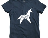 Kids Origami Unicorn T-shirt - Baby, Toddler, and Youth Sizes - Fun Tee, Cool, Gift, Japanese - 4 Colors
