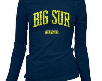 Women's Big Sur California Long Sleeve Tee - S M L XL 2x - Ladies' Big Sur T-shirt, Cali, Monterey, Carmel - 3 Colors