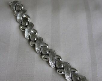 Wide Silver Tone Bracelet