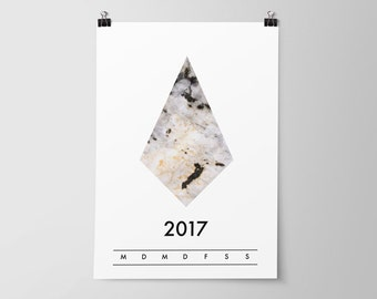 Kalender 2017 · Printable Raute
