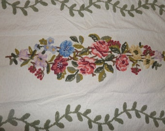 Chenille Bedspread, Vintage Chenille Bedspread