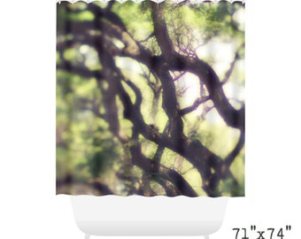 Tangled Branches Shower Curtain for Eco Bathroom Art