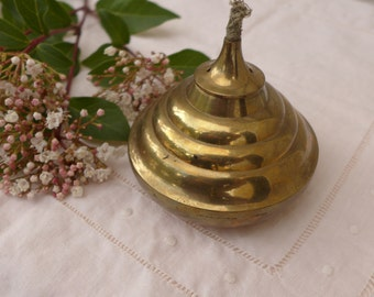 Vintage Brass Lamp Oil Burner Contemporary Look