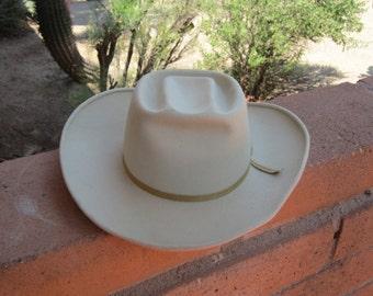 Barley Color Cowboy Flat Top Hat
