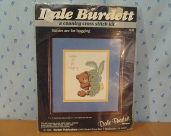 Dale Burdett 1985 Counted Cross Stitch Kit Babies are for Hugging