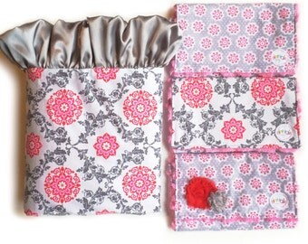 CUSTOM ORDER EXAMPLES not for sale - Baby girl minky blanket satin ruffle - tooth fairy pillow - sensory blanket - made to order