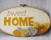 Custom Wall Art - Yellow and Grey - Wall Art - Sweet Home