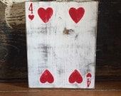 Wood playing card