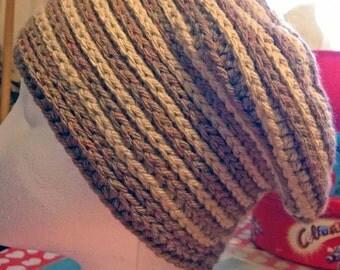 Braided beanie slouchy hat