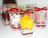 Vintage Peanut Butter Glasses ,Blue Plate Peanut Butter, Drinking Glass, Animal Glasses ,Set 6 Kitchenware#2
