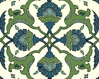 Blue Green Mediterranean Artistic Custom Tile Ceramic Kitchen Bath Backsplash 6""