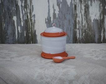 Hand Thrown Pottery Earthenware Salt Cellar