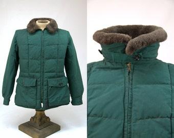 60s Eddie Bauer Goose Down Mouton Collar Mountain Parka Puffer Jacket