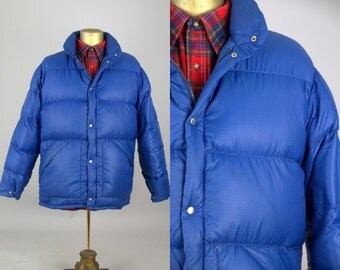 70s Puffer Jacket Goose Down Woolrich Quilted Mountain Winter Jacket