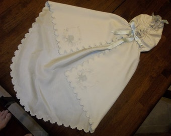 Antique Hooded Baby Cape...FRENCH...Christening...1850 Era...Museum QUALITY...Free Shipping