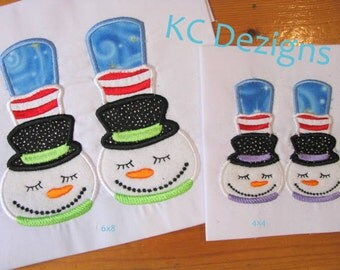 Snowman Feet Machine Applique Embroidery Design - 4x4, 5x7 & 6x8