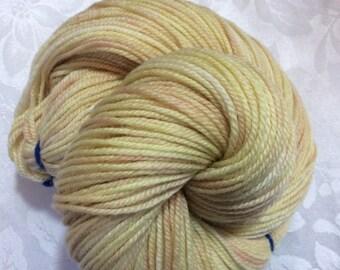 "Straw -  Hearthside Fibers ""Extravagance"" - Polwarth/silk DK - Hand Dyed"