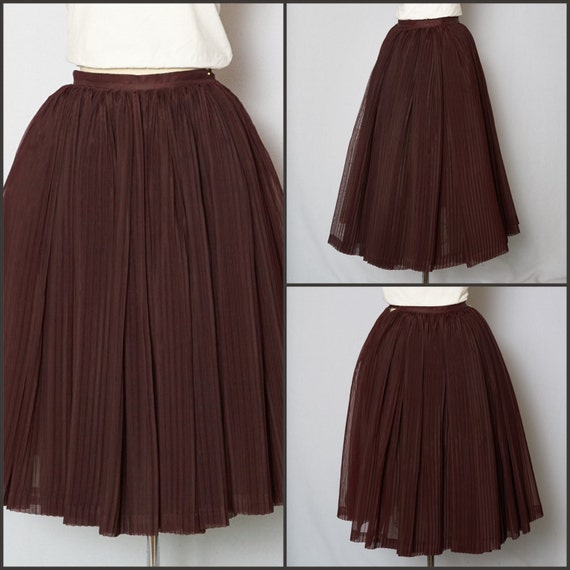 1950s skirt 50s skirt pleated skirt 1950s skirt
