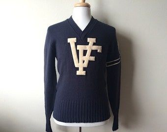 vintage varsity letterman sweater