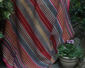 Vintage Bolivian Frazada/Frasada blanket, Aymara weaving, Peruvian Rug,Peruvian Blanket, Aymara blanket,Andean Textile