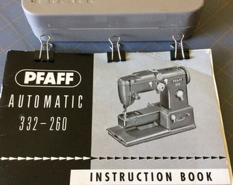 Vintage Pfaff Sewing Machine Set and Manual