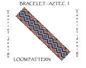 Loom pattern - native american inspired bracelet pattern - Aztec I