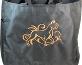 6 Graceful Boxer Embroidered Essential Tote Bags